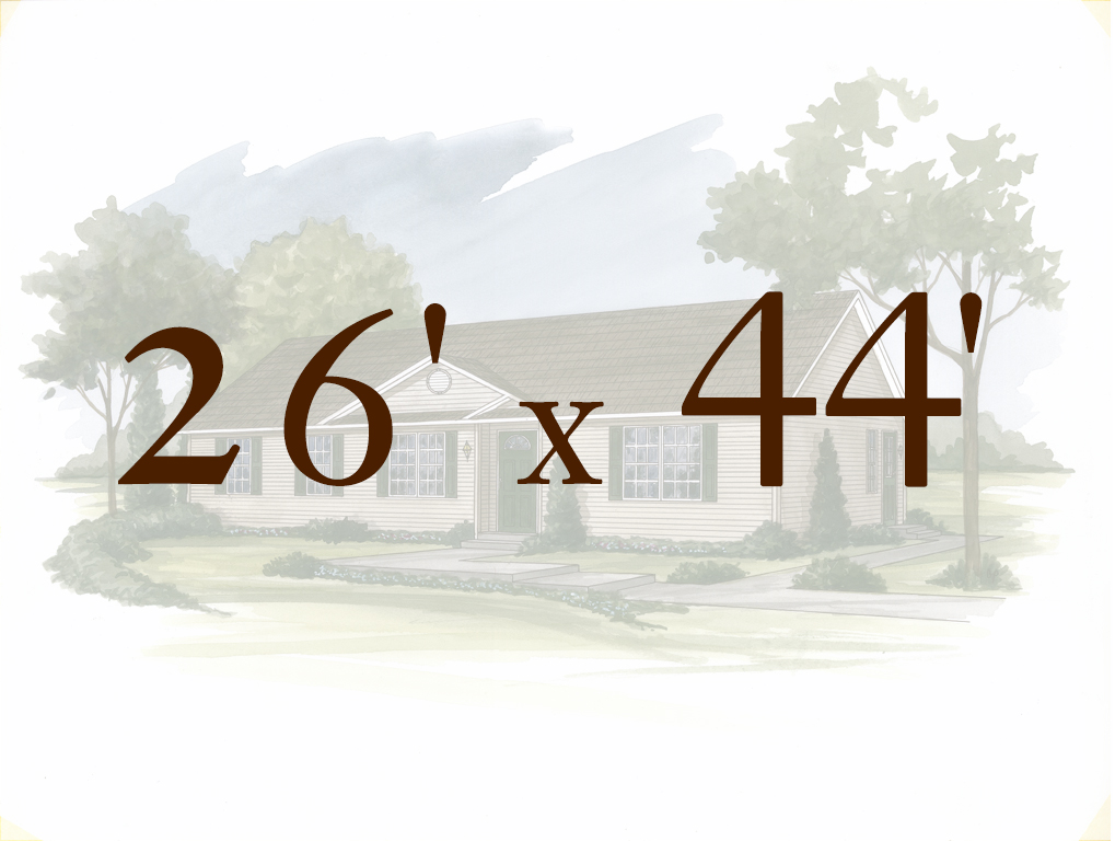 Alpine 26\' x 44\' |Ranch Models 106-111 | Apex Homes