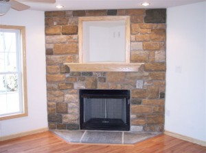 Stone to Ceiling with Niche Fireplace Option